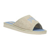 Slippers with lettering bata, blue , 579-9618 - 13