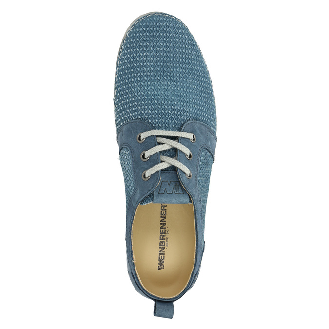 Casual leather shoes weinbrenner, blue , 523-9475 - 19