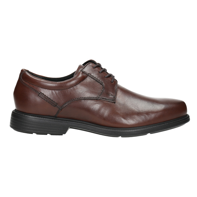 Brown leather Derby shoes rockport, brown , 824-4127 - 15