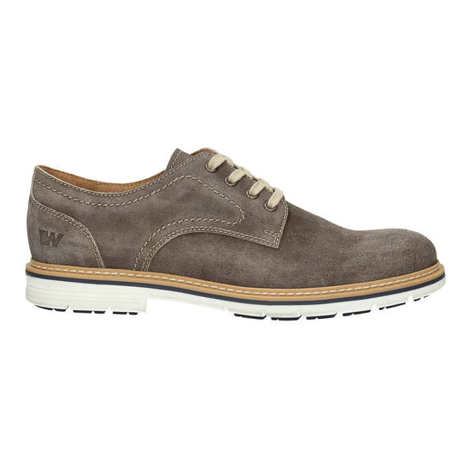 Leather shoes on a contrasting sole weinbrenner, brown , 823-4607 - 15