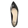 Pointed leather ballet pumps bata, black , 524-6604 - 26