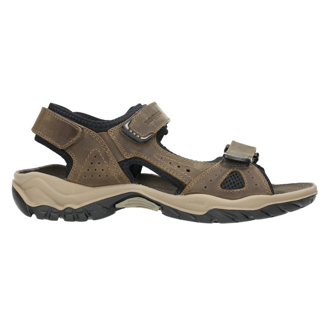 Men's leather sandals weinbrenner, brown , 866-3630 - 15