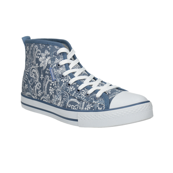 Ladies' patterned ankle sneakers north-star, blue , 589-9442 - 13