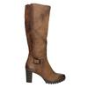 Women's high boots bata, brown , 796-4601 - 15