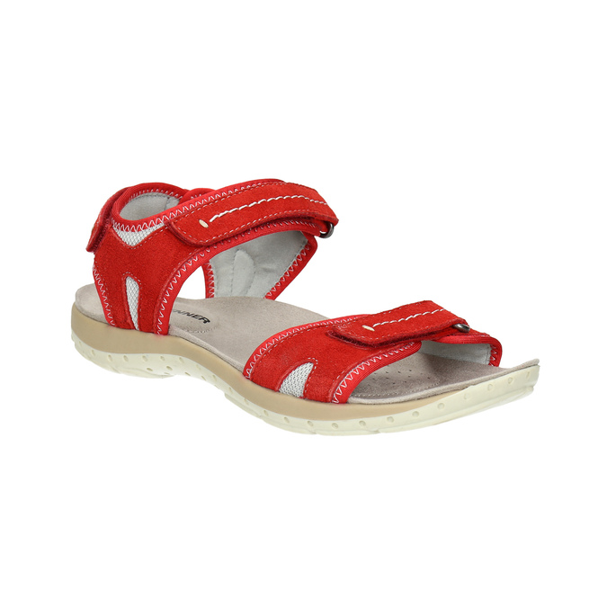 Ladies' red leather sandals weinbrenner, red , 566-5608 - 13