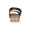 Ladies' sandals with distinctive sole weinbrenner, black , 566-6626 - 17