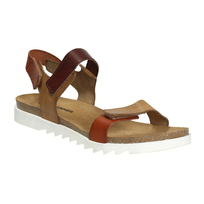 Ladies' leather sandals weinbrenner, brown , 566-4630 - 13