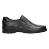 Men's leather moccasins, black , 814-6622 - 15