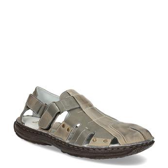 Men's leather sandals bata, brown , 866-2622 - 13