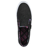 Ladies' slip-ons with coloured trim north-star, black , 589-6440 - 19
