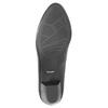 Ladies' leather pumps pillow-padding, black , 624-6641 - 26