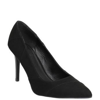 Ladies pointed pumps insolia, black , 729-6607 - 13
