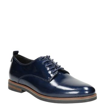 Ladies' leather oxford shoes bata, blue , 528-9600 - 13