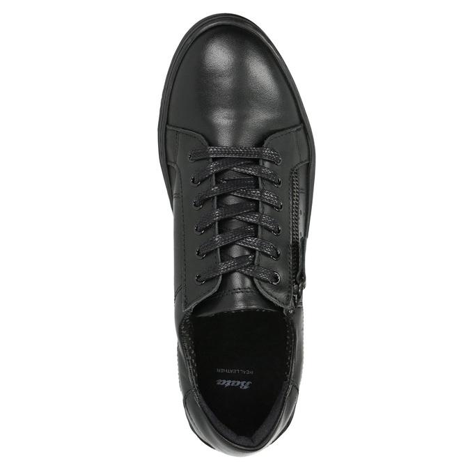 Ladies' leather sneakers bata, black , 526-6630 - 26