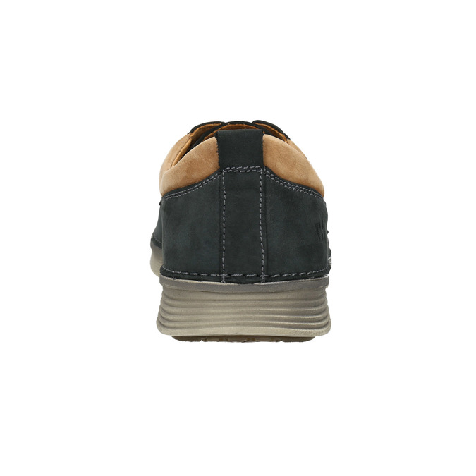 Casual leather shoes, blue , 846-9654 - 16