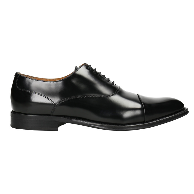 Black leather Oxford shoes bata, black , 826-6671 - 26