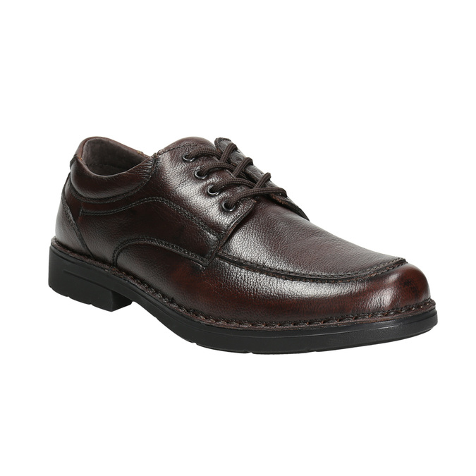 Men's casual shoes with stitching comfit, brown , 824-4987 - 13