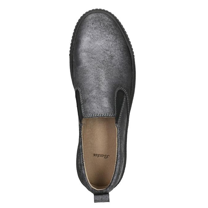 Ladies' Slip-on on black flatforms bata, gray , 516-1613 - 26