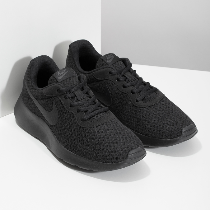 Men's black sneakers nike, 809-0557 - 26
