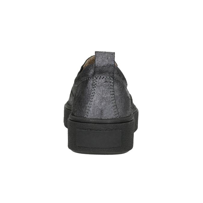 Ladies' Slip-on on black flatforms bata, gray , 516-1613 - 17