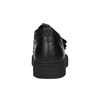 Black leather sneakers with Velcro bata, black , 526-6646 - 16