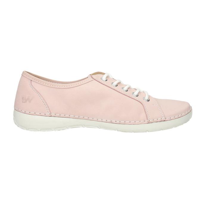 Ladies' leather sneakers weinbrenner, pink , 526-5644 - 26