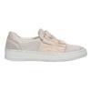 Ladies' leather slip-ons bata, pink , 516-5614 - 15