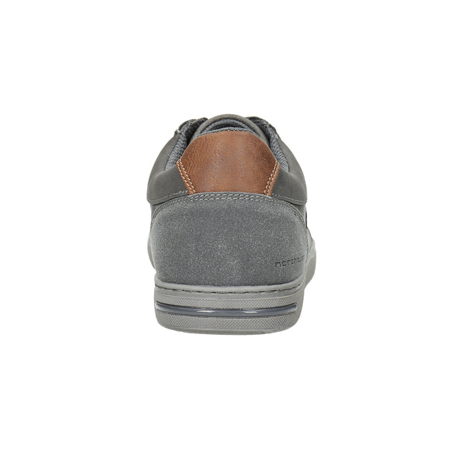 Men's grey sneakers north-star, gray , 841-2607 - 17