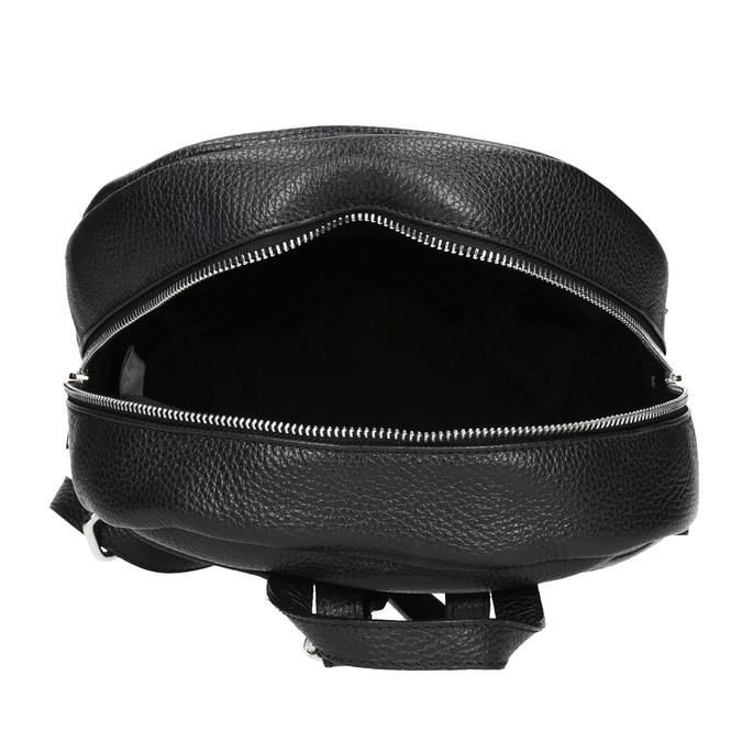 Black leather backpack, black , 964-6240 - 15