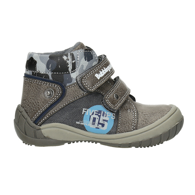 Boys' ankle boots bubblegummer, gray , 111-2618 - 15