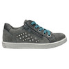 Children's studded leather sneakers mini-b, gray , 323-2173 - 15