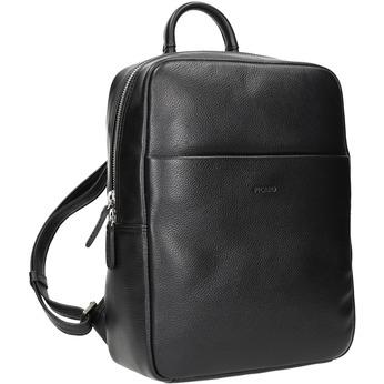 Black Leather Backpack picard, black , 964-6045 - 13