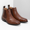 Brown leather Chelsea Boots bata, brown , 896-3400 - 26