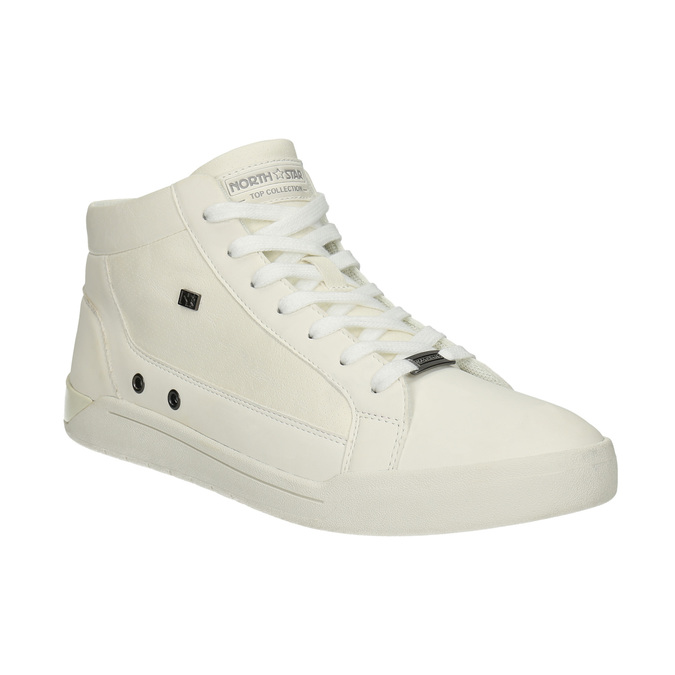 Men's high-top sneakers north-star, white , 841-1609 - 13