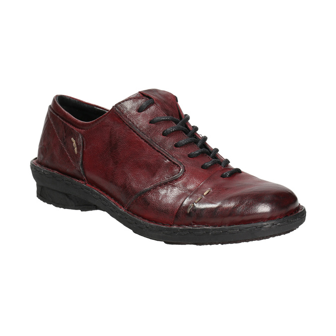 Ladies' leather shoes bata, red , 526-5640 - 13