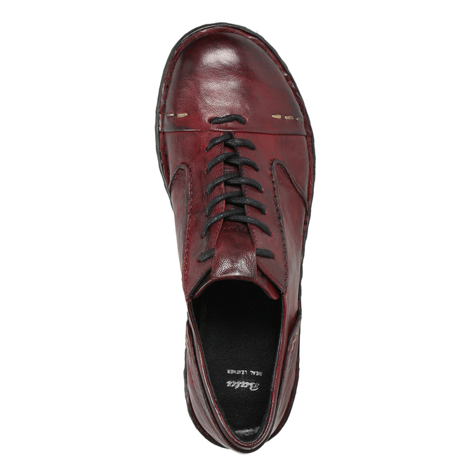 Ladies' leather shoes bata, red , 526-5640 - 26