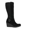 Ladies' High Wedge Boots bata, black , 796-6645 - 15
