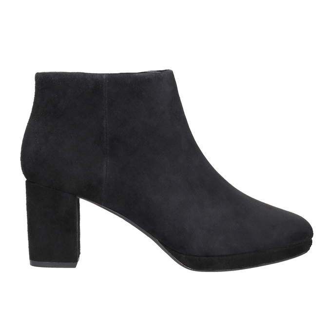 Leather Ankle Boots with Heel clarks, black , 713-6035 - 26