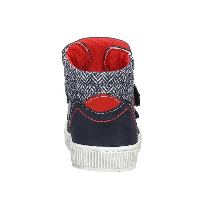 Leather high-top sneakers mini-b, blue , 214-9203 - 16