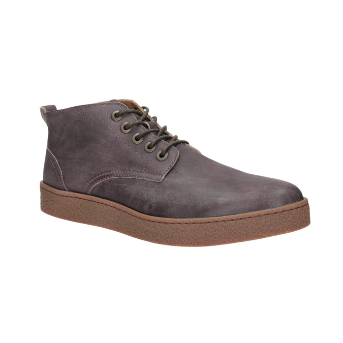 Men's leather ankle boots bata, brown , 846-4652 - 13