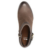 Ladies' high ankle boots with buckle bata, brown , 796-4644 - 19