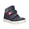 Leather high-top sneakers mini-b, blue , 214-9203 - 13