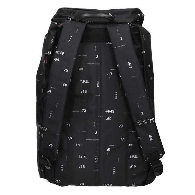 Backpack with Print and Buckles, black , 969-6076 - 16