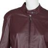Burgundy Leather Jacket bata, red , 974-5175 - 16