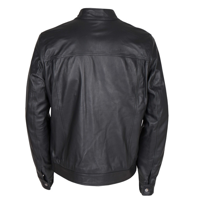 Men's Leather Jacket bata, black , 974-6154 - 26