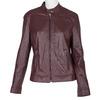 Burgundy Leather Jacket bata, red , 974-5175 - 13