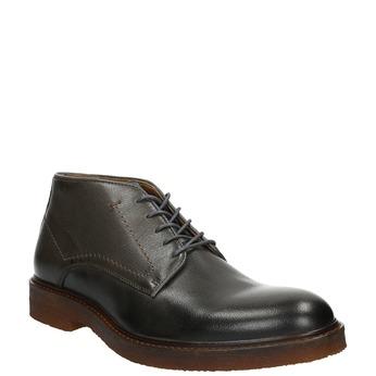 Leather Chukka Boots bata, gray , 826-3919 - 13