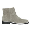Brushed leather ankle boots bata, gray , 593-2603 - 15