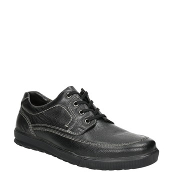 Leather shoes with casual soles bata, black , 824-6925 - 13