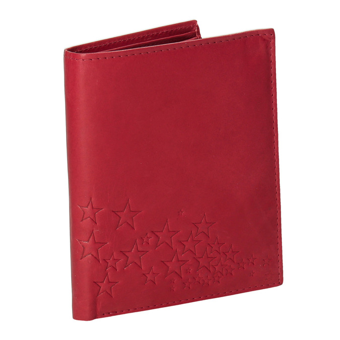 Ladies' leather wallet bata, red , 944-5179 - 13